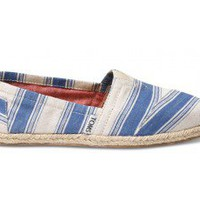 Navy Umbrella Stripe Women's Classics | TOMS.com