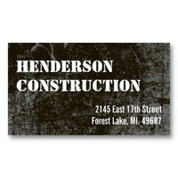 Construction Business Cards Dark Concrete from Zazzle.com