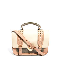 New Look Pastel Colour Block Studded Satchel