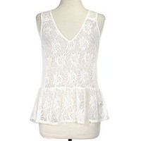 Art Effect | Sanctuary  - Sanctuary Ivory Lace Peplum Top