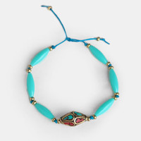 Moon Love Friendship Bracelet In Turquoise By Vanessa Mooney - $38.00 : ThreadSence, Women's Indie & Bohemian Clothing, Dresses, & Accessories