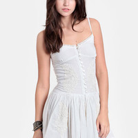 Marcy Embroidered Drop Waist Dress By Raga - $118.00 : ThreadSence, Women's Indie & Bohemian Clothing, Dresses, & Accessories