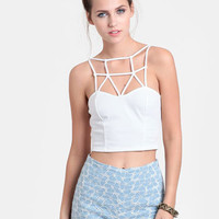 Crash Course Lattice Crop Top - $24.00 : ThreadSence, Women's Indie & Bohemian Clothing, Dresses, & Accessories