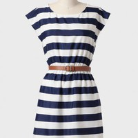 Semester Abroad Striped Belted Dress at ShopRuche.com