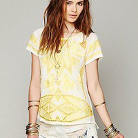 Free People  FP New Romantics Cariocas Cutwork Tee at Free People Clothing Boutique