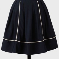See You There High-waisted Skirt In Navy at ShopRuche.com