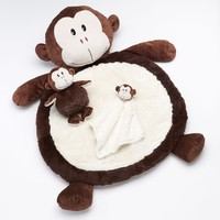 Bestever Monkey Plush Play Mat Set