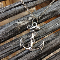 Simply Silver Nautical Anchor Necklace