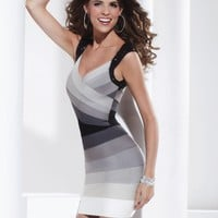 Hannah S 27797 Gray Bandage Dress