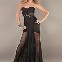 Jovani 3592 Black Sheer Evening Gown
