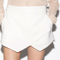 ASYMMETRIC WRAP SKORT - Skirts - Woman - ZARA United States