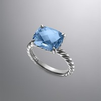 David Yurman | David Yurman Rings for Women | DavidYurman.com | Color Classics Ring, Blue Topaz, 12x10mm