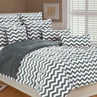 Marlo Lorenz 4892 Chevron Microplush Comforter Set