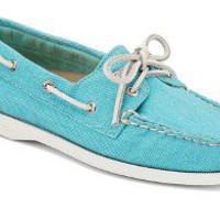Sperry Top-Sider Women's Cloud Logo Authentic Original 2-Eye Canvas Boat Shoe