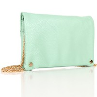 Mint/Gold Best Seller Clutch