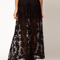 ASOS Maxi Skirt In Floral Lace at asos.com