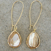 Opalescent Drop Earrings [3313] - $18.00 : Vintage Inspired Clothing & Affordable Summer Frocks, deloom | Modern. Vintage. Crafted.