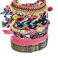 River Island Festival Friendship Bracelets Multi Pack at asos.com