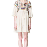 EMBROIDERED DRESS - Dresses - Woman - ZARA United States