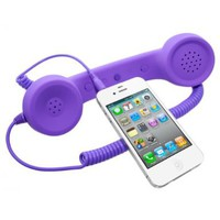 Universal MiniSuit Retro Headset/Handset Ear phone for iPhone, iPad, Blackberry, and Androids - Soft Touch - Purple:Amazon:Cell Phones & Accessories