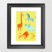 Animal Fever! Framed Art Print by PopEnterprises