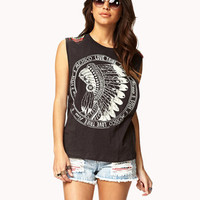 Beaded Fringe Muscle Tee | FOREVER 21 - 2059606982