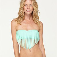 Surf Essentials Fringe Bandeau Bikini Top