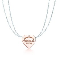 Tiffany & Co. -  Return to Tiffany™ heart pendant in Rubedo® metal, small.