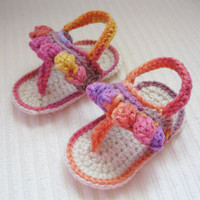 Little Ombre Crochet Baby Sandals