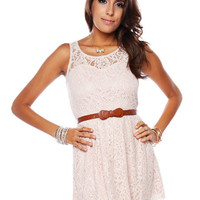 Papaya Clothing Online :: BELTED LACY DRESS