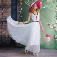 2013 summer new white mesh vest dress - $138.00