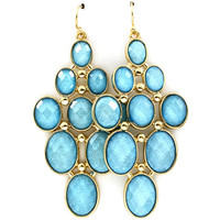Sky Blue Shimmer Chandelier Earrings