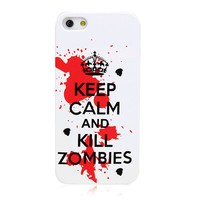 Fashion Keep Calm and Carry On Series Graffiti Visuals Back Case Cover for iPhone 5/4/4S