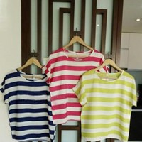 SUMMER CASUAL STRIPE TSHIRT