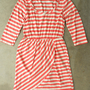 Slim Lines Dress in Coral [3138] - $43.00 : Vintage Inspired Clothing & Affordable Summer Frocks, deloom | Modern. Vintage. Crafted.