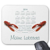 Seafood 2014 Calendar Mouse Pad from Zazzle.com