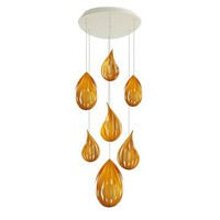 Polywood® pendant lamp RAINDROP CLUSTER Raindrop Collection by Lzf | design Javier Herrero
