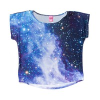 Girls Cosmic Tee, Black Grey  Journeys Shoes