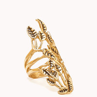 Etched Leaf Knuckle Ring | FOREVER 21 - 1074619109