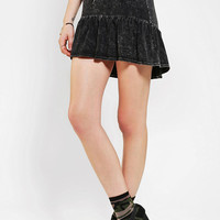 Urban Outfitters - Sparkle &amp; Fade Acid Wash Flounce Hem Skirt