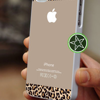 Abstract Leopard Texture On Sweet Brown for iPhone 4-4s, iPhone 5, Samsung S3, S2