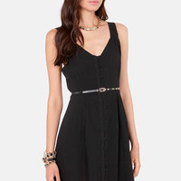 Black Sheep Ajala Belted Black Dress
