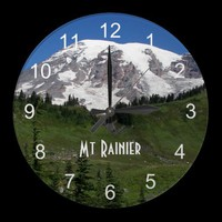 Rainier Paradise Wall Clock from Zazzle.com