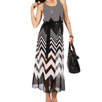 BlackWhite Maxi Dress