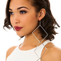 MKL Accessories Earrings Building Blocks Statement in Silver