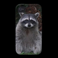 Forest Raccoon Vibe iPhone 4 Case from Zazzle.com