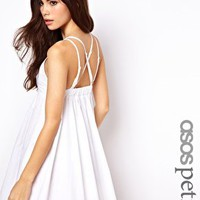 ASOS PETITE Exclusive Sundress With Strappy Open Back at asos.com