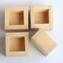 Set of 4 unfinished wooden boxes - without cover - natural, eco friendly