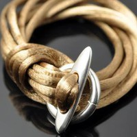 Gold Satin String Bracelet