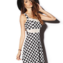 Fit & Flare Checkerboard Dress